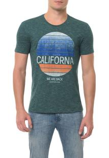 Camiseta Ckj Mc Estampa California Verde Escuro Camiseta Ckj Mc Estampa California - Verde Escuro - P