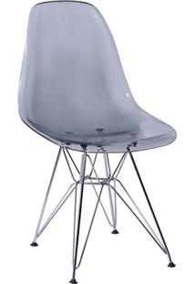 Cadeira Eames Dkr- Cinza & Prateada- 80,5X46,5X42Cm