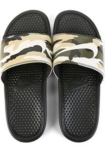 Chinelo Nike Benassi Jdi Print Masculino - Masculino-Preto+Verde