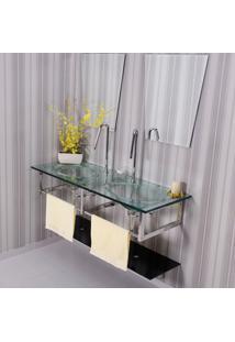 Gabinete Para Banheiro De Vidro Picasso Astra Gp-P Transparente