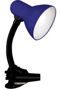 Luminária De Mesa Com Garra De Fixação Versaty Azul