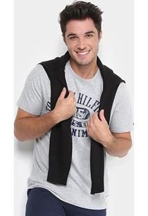 Camiseta Tommy Hilfiger Estampada Denim Masculina - Masculino