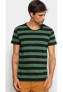 Camiseta Listrada Foxton Manga Curta Masculina - Masculino
