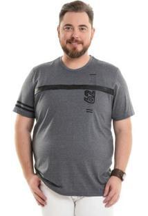 Camiseta Com Recorte Cinza Bgo Plus