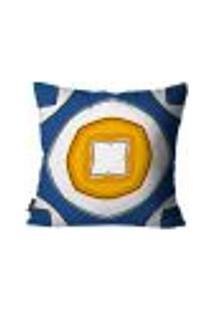 Capa Para Almofada Premium Peluciada Mdecore Azulejo Português Colorido 45X45Cm
