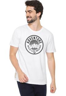 Camiseta Masculina Eco Canyon Wild Life Begins Branca