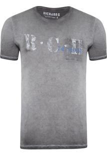 T-Shirt Masculina 1/2 Malha Sunfaded - Cinza