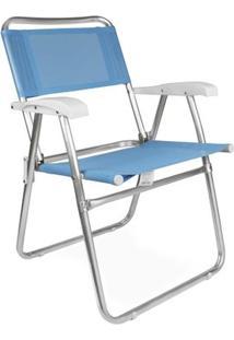 Cadeira Master Alumínio Fashion - Unissex-Azul