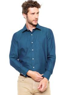Camisa Aleatory Geométrica Azul/Verde