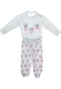 Pijama 4 Botões Longo Balefante - Feminino