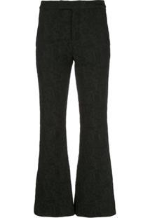Josie Natori Brocade Trousers - Preto