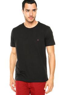 Camiseta Tommy Hilfiger Redonda Preta