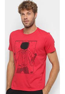 Camiseta Manga Curta Ellus 2Nd Floor Space Cowboy Masculina - Masculino-Vermelho Claro
