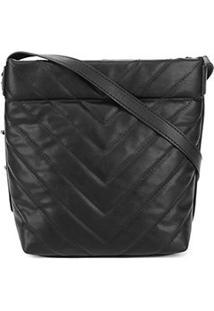 Bolsa Dumond Shoulder Bag Matelassê Feminina - Feminino-Preto