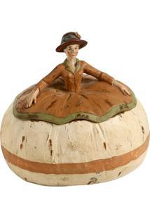 Escultura Decorativa De Resina Lady À Francesa Iv