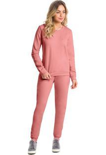 Pijama Longo Moletom Flanelado Feminino
