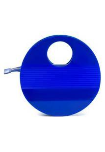 Bolsa De Acrílico Isla Galerias Oval Cor Azul Royal