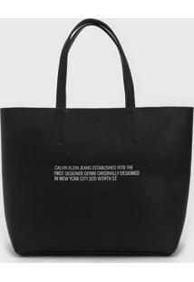 Bolsa Calvin Klein Sculpted Established Preta