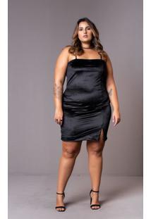 Vestido Veludo Plus Size