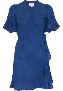 Honorine Vestido Envelope Edie - Azul