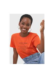 Camiseta Colcci Girl From Rio De Janeiro Laranja