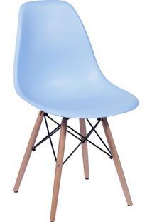 Cadeira Em Mdp/Mdf Base Escura 1102-Or Design - Azul Claro
