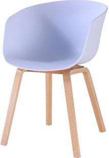 Cadeira Com Bracos Dino Branca Pes Madeira - 50060 Sun House