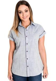 Camisa Pimenta Rosada Suzie - Feminino-Azul Claro