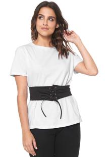 Camiseta Fiveblu Corset Branca