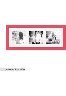 Painel Insta Para 3 Fotos- Vermelho & Branco- 15X38Xkapos