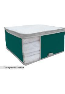 Organizador Para Toalha - Incolor & Verde - 15X36X36Boxmania