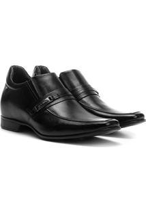 Sapato Social Couro Rafarillo Las Vegas Masculino - Masculino-Preto