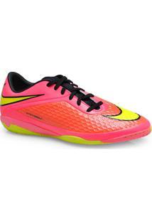 Tenis Masc Nike 599849-690 Hypervenom Phelon Ic Pink/Coral/Limao