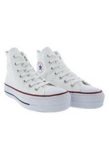Tênis Converse All Star Cano Alto Lift Lona Branco