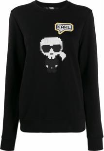 Karl Lagerfeld Moletom Karl Pixel - Preto