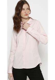 Camisa Slim Fit Lisa- Rosa Claro- Lacostelacoste