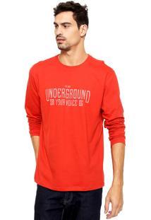 Camiseta Malwee Underground Vermelha