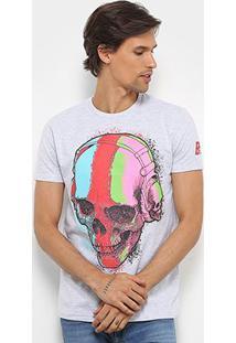Camiseta Bulldog Fish Caveira Colors Masculina - Masculino-Mescla