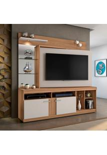 Estante Para Home Theater E Tv Até 60 Polegadas Brasil Naturale E Off White