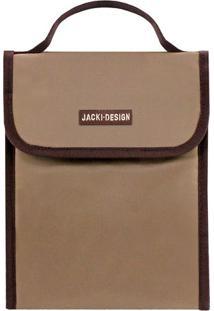 Bolsa Térmica Com Velcro- Bege Escuro & Marrom Escuro