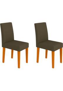 Conjunto Com 2 Cadeiras Giovana Ipê Marrom