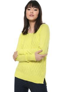 Suéter Fiveblu Texturas Amarelo