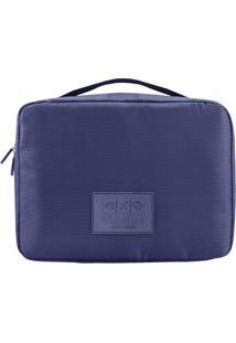 Nécessaire De Viagem- Azul Escuro- 19X25X9Cm- Jajacki Design