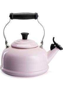 Chaleira Com Apito Tradicional Rosa Pink Le Creuset - Chaleira Com Apito Tradicional Rosa Satin Pink Le Creuset