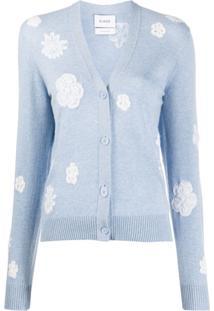 Barrie Cardigan Com Padronagem Floral - Azul