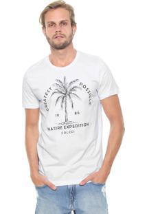 Camiseta Colcci Nature Expedition Branca
