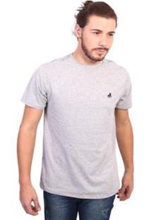 Camiseta England Polo Club Tagless Masculina - Masculino-Cinza Claro