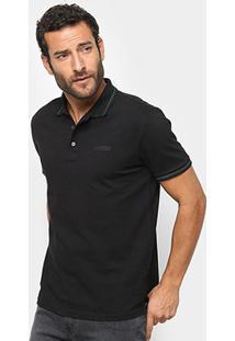 Camisa Polo Ellus Piquet Industry Co. Masculina - Masculino-Preto