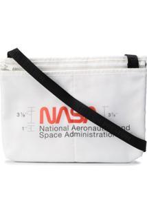 Heron Preston Nasa Print Messenger Bag - Branco
