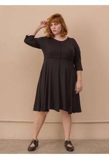 Vestido Layla Plus Size Preto-58/60 Preto